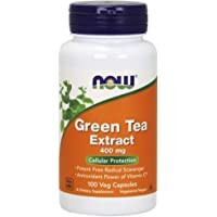 NOW Supplements, Green Tea Extract 400 mg, 100 Veg Capsules