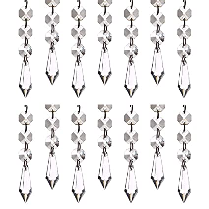 K9 Crystal Pendant, Ultra-clear Glass Hanging Beads, Door and Window  Wedding Party Holiday Gold Sequin Crystal Jewelry 10 Pcs (ice crystal)