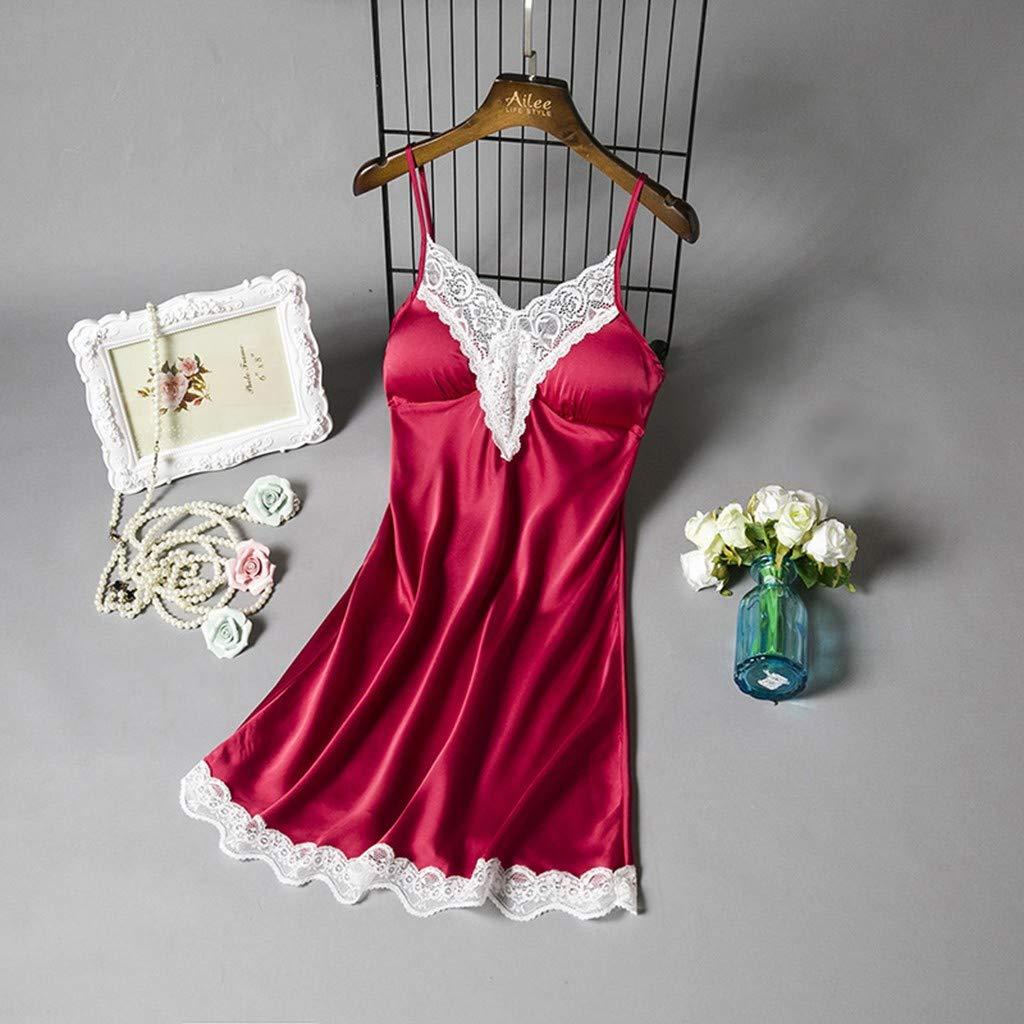 Womens Swimwear Amlaiworld Ladies Dress with Satin Lace Stitching Nightdress Without Chest Pad Bra Style with Padded Satin Lady Nightdress