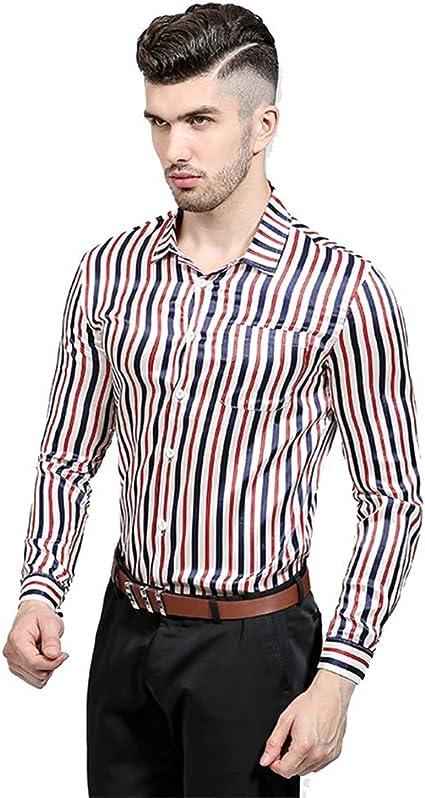 Weentop Camisas para Hombres Estilo de Club Nocturno ...