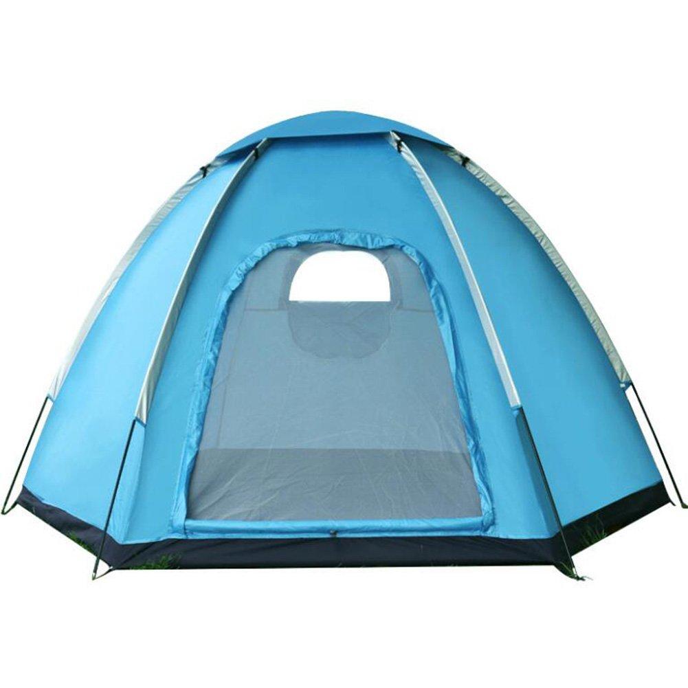 Outdoor Camping Zelt Doppel Hexagon Wasserdicht Camping Zelt Automatische Frühling Regendicht Zelt Wasserdicht Winddicht UV-Besteändig Für Wandern Strand