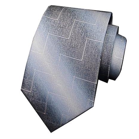 Y-WEIFENG Corbata Formal Formal de Seda con Corbata de Seda para ...