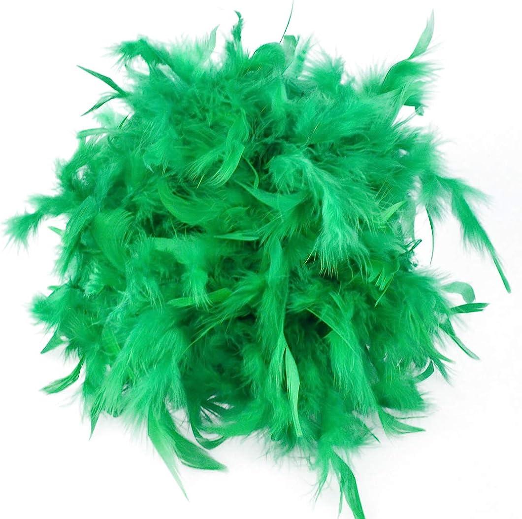 6/' Green Feather Boas 12 Pack 60 grams Party Costume Feather Boa 1 Dozen