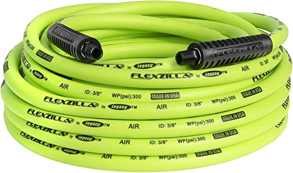 "Air Hose 1//4/"" MNPT Fittings Automotive Auto Shop Extreme Flexzilla 1//4/"" x 25 Ft"