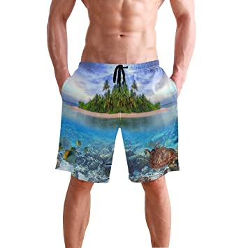 Mens Swim Trunks Leopard Quick Dry Board Shorts Bathing Suits Swimwear Volley Beach Trunks