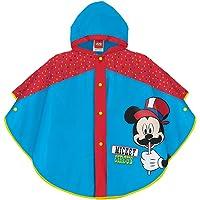 PERLETTI Chubasquero Lluvia Niño Disney Mickey Mouse - Poncho Impermeable Colorado Infantil - Azul y Rojo con Capucha y…