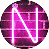 LED Neon Letter Light, USB Batteries Operated Marquee Letter Sign for Night Light Bright Lamp Words for Home, Hotel, Indoor W