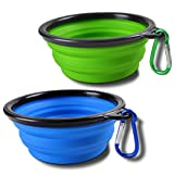 Amazon Price History for:Sabuy Collapsible Dog Cat Travel Bowl, Set of 2, Portable Pets Pop-up Food Water Feeder Foldable Bowls with Carabiner Clip