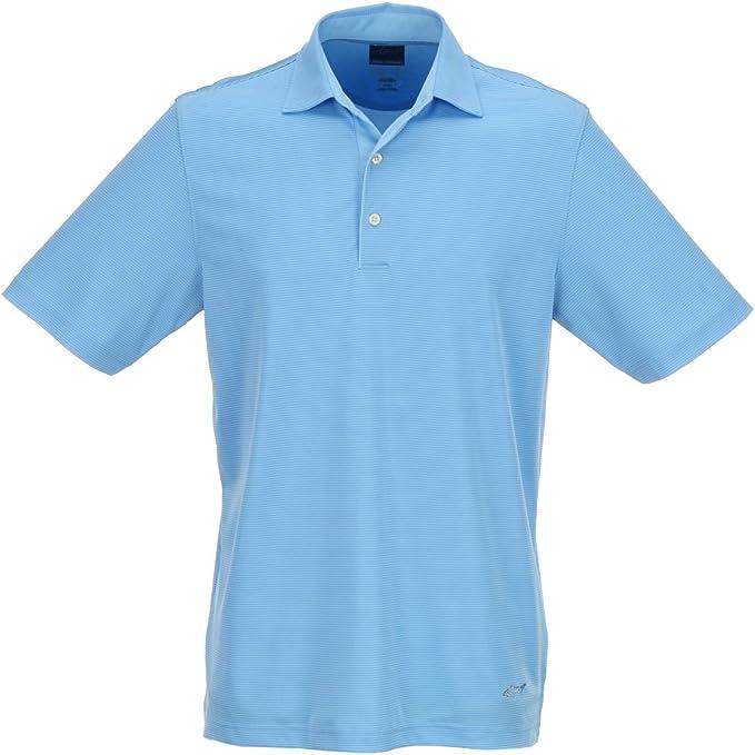 Greg Norman hombre ML75 Tonal Stripe Polo, Azul claro: Amazon.es ...