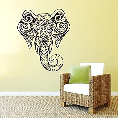 Tribal con patrón de elefante bohemio silueta silueta tatuajes de ...