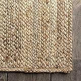 nuLOOM Rigo Hand Woven Jute Area Rug, 5' x
