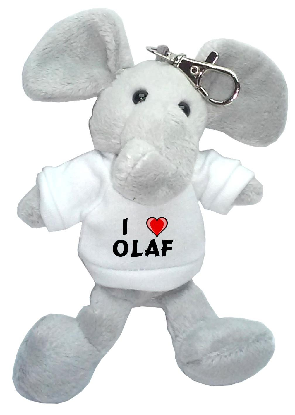 Elefante de peluche (llavero) con Amo Olaf en la camiseta ...