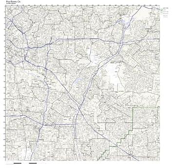 Pico Rivera Zip Code Map.Amazon Com Pico Rivera Ca Zip Code Map Not Laminated Home Kitchen