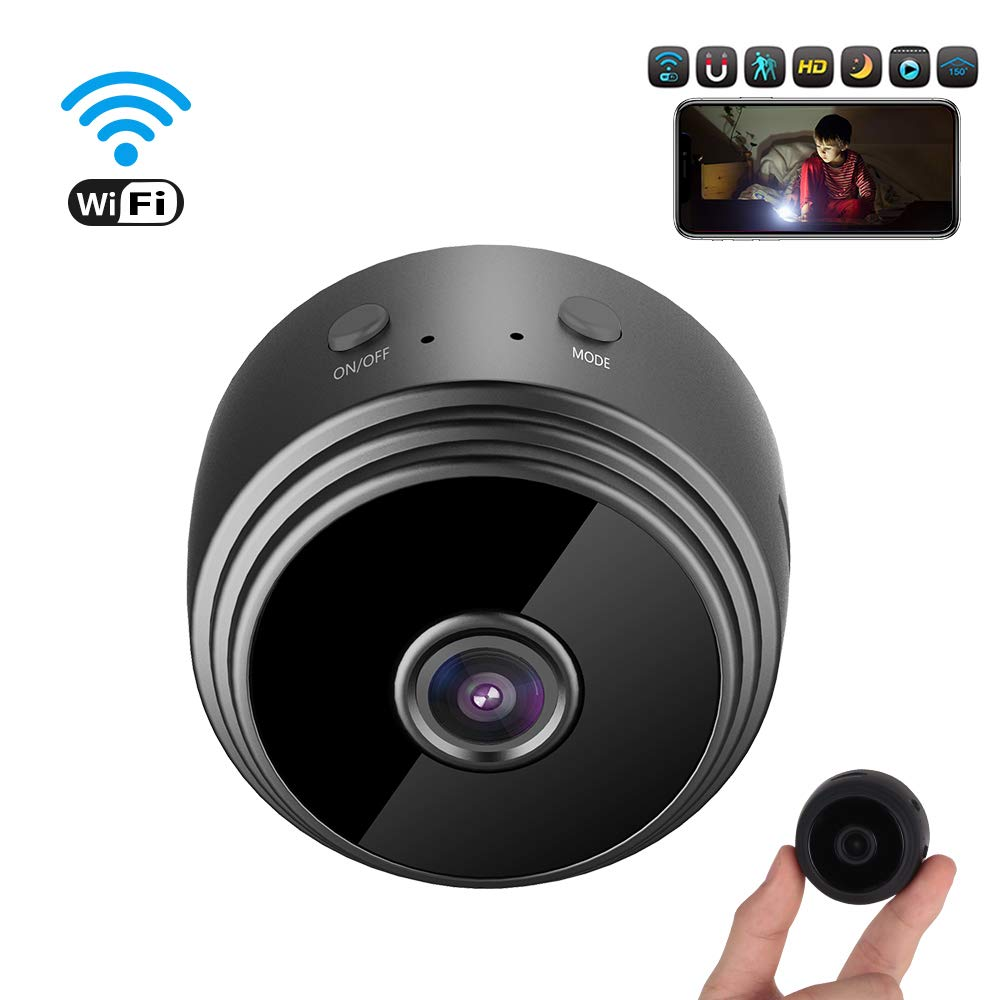 Mini C/ámara esp/ía HD 1080P WiFi C/ámara de Seguridad Port/átil Interior//Exterior Detecci/ón de Movimiento//Vision Nocturna C/ámara de Vigilancia