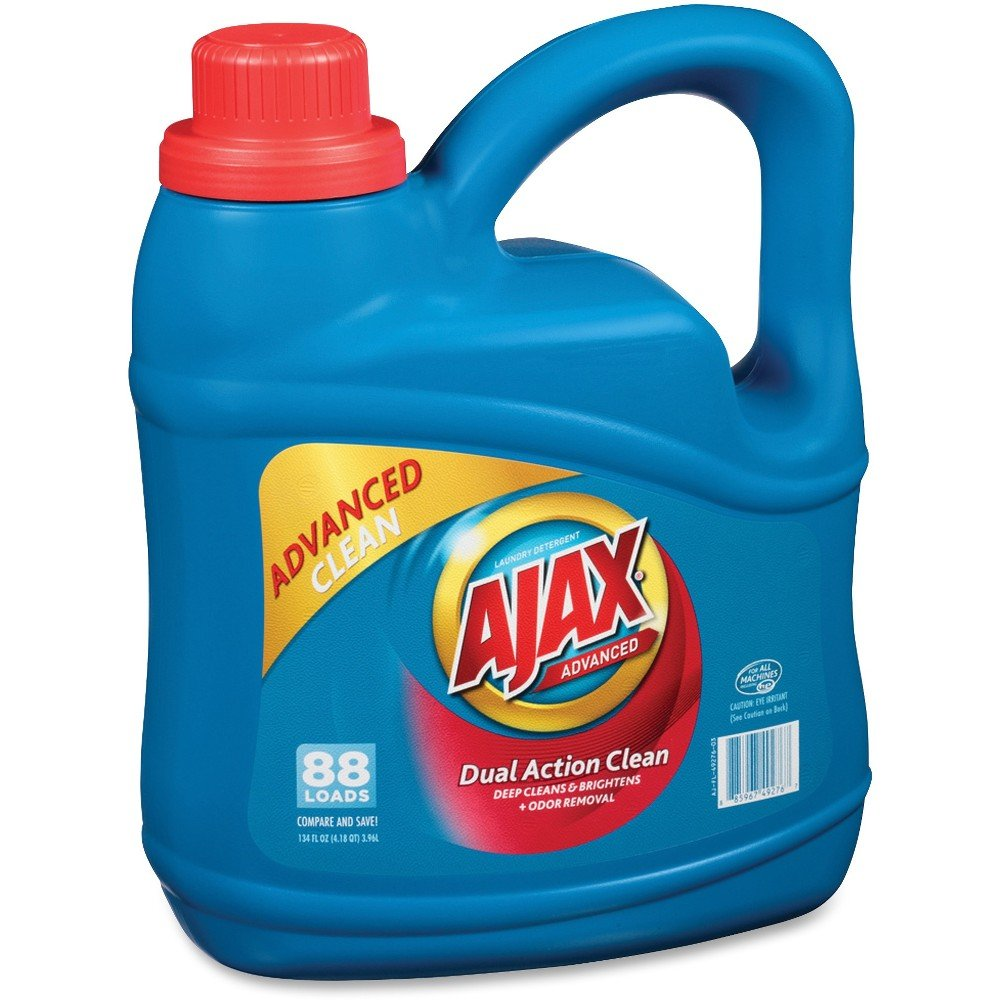 Ajax PB49276 Ajax Advanced Liquid Laundry Detergent, 134 oz, Blue