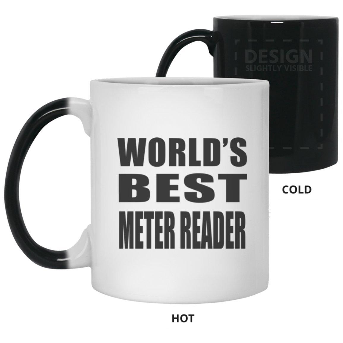 世界最高のメーターリーダー – 11 ozカラーChanging Mug、熱Sensitiveカップ、最高のギフト家族、友人、誕生日、結婚記念日、休日、母の/父の日 B07DH6MKWR
