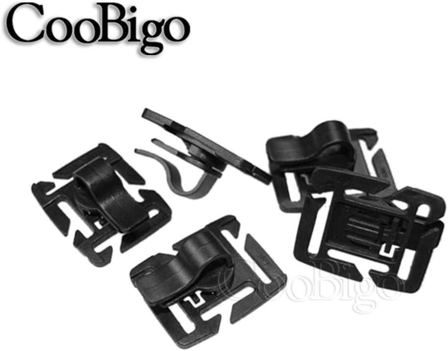 CooBigo 6 St/ück//Pack drehbare Trinkblase Tube Trap Rohr-Clip Packungen Trinkhalm Molle Tactical Rucksack Gurtband Travel Kits