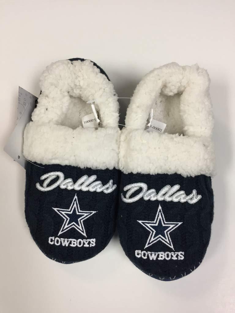 9efb8ad0 Amazon.com : Dallas Cowboys Women's Team Logo Script Fur Moccasin ...