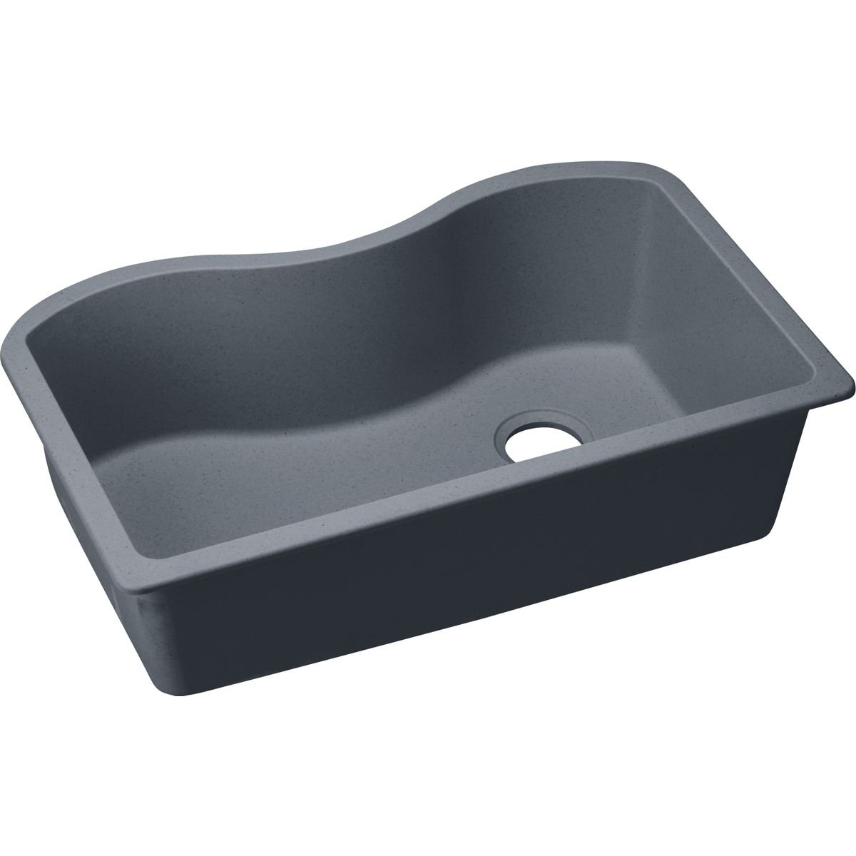 Elkay Quartz Classic Elgus3322rgy0 Dusk Gray Single Bowl Undermount Sink Amazon Com