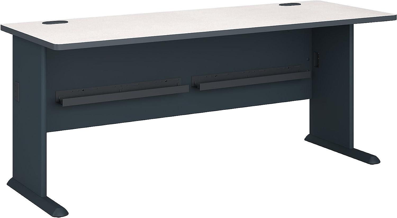 Bush Business Furniture Series A 72W Desk in Slate and White Spectrum