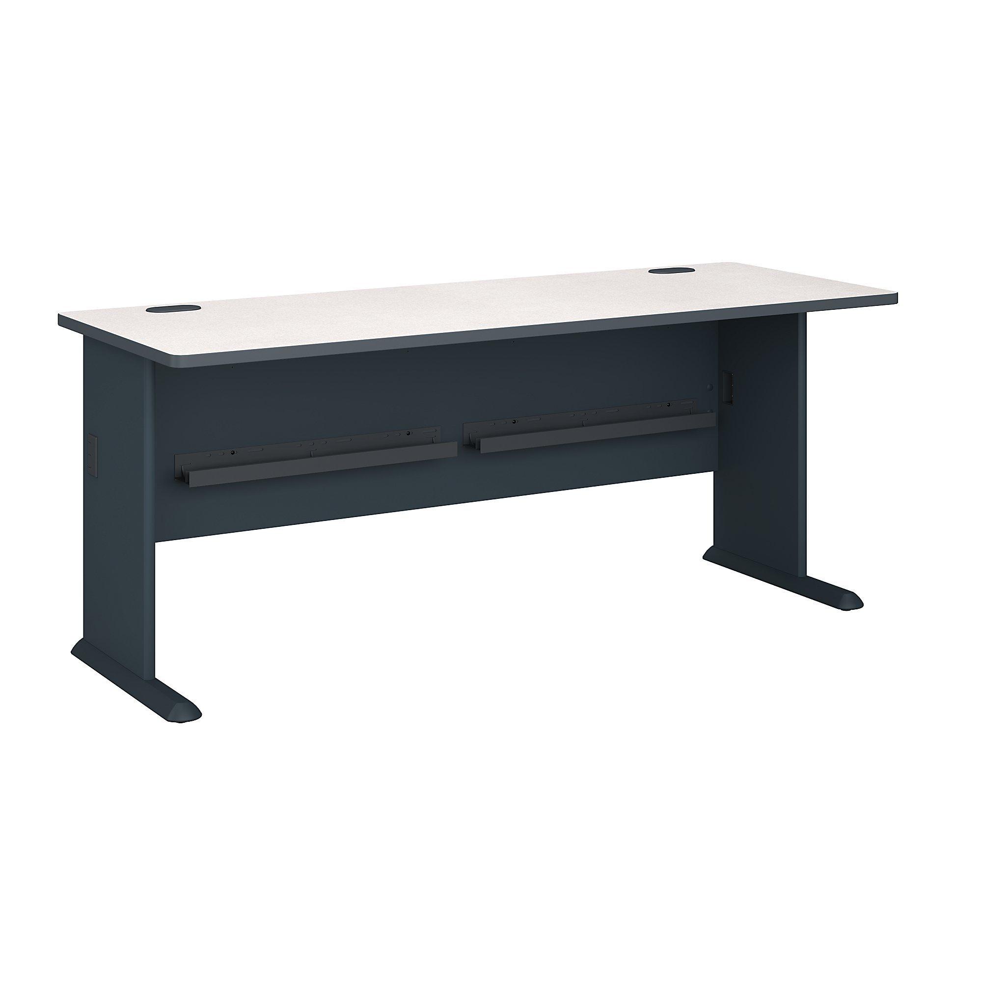 Bush Business Furniture Series A 72W Desk in Slate and White Spectrum by Bush Business Furniture