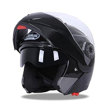 MERRYHE Mens Motorcycle Pro Casco De Cara Completa De Doble Lente Allround Cascos para Mujer Moto