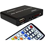 JUSTOP HD Media Box Player Full HD 1080P HDMI Out, 5.1 Surround Sound Out - Play Movies/Music/Photos/Files directly on your TV
