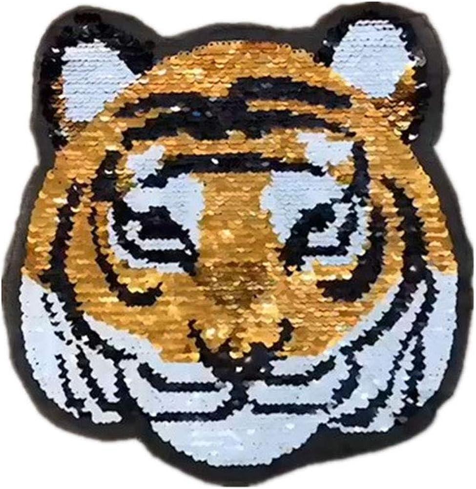 LIOOBO Parches bordados de panda de tigre con lentejuelas para ...