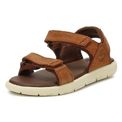 82add060b110f2 Timberland Kids  Nubble Leather 2 Strap Open Toe Sandals  Amazon.co ...