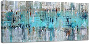 Large Abstract Wall Art Decor Mint Green Gray Canvas Prints for Living Room Bedroom Big Artwork Home House Office Wall Decoration 24x48inch