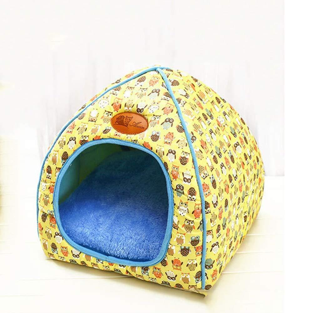C 323233cm C 323233cm Cat Litter House Closed House Folding Cat Villa Pet Supplies New Yurt Doghouse Autumn and Winter