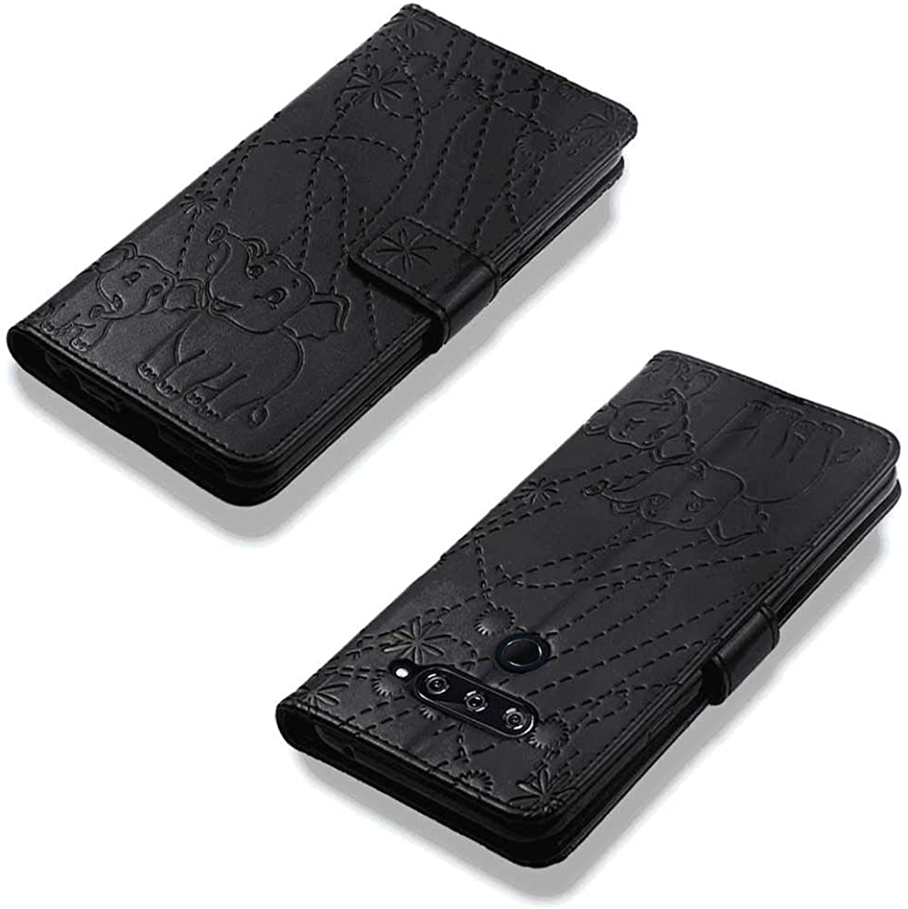 iPhone 11 Pro Max Flip Case Cover for iPhone 11 Pro Max Leather Luxury Business Mobile Phone Cover Kickstand Card Holderswith Free Waterproof-Bag