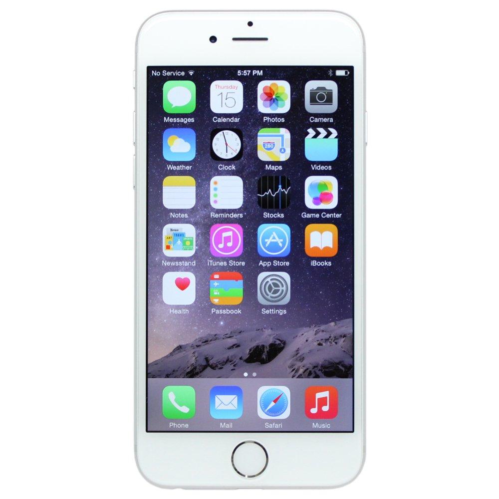 Apple iPhone 6, Fully Unlocked, 64GB - Silver (Certified Refurbished)