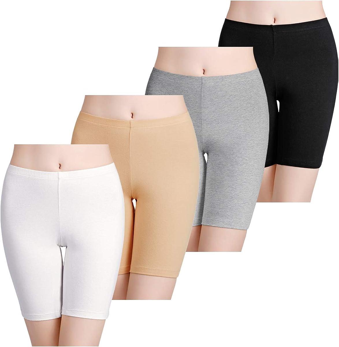 wirarpa Womens Anti Chafing Cotton Undershorts Boy Shorts Bike Boxer Briefs Multipack