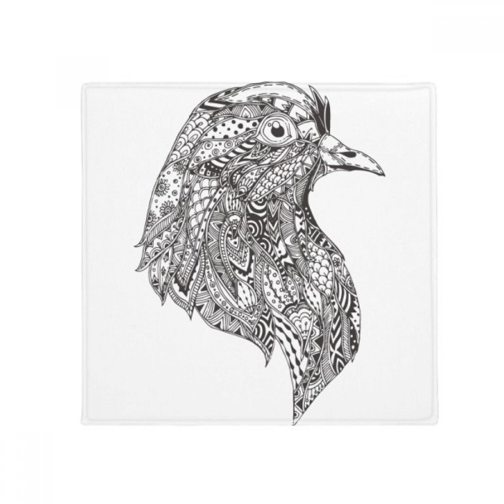 DIYthinker Bird Paint Black Fierce Anti-Slip Floor Pet Mat Square Home Kitchen Door 80Cm Gift
