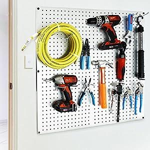 Presa 408-50 Heavy Duty Metal Peg Board Shelving Hooks, 6-Inch, 50-Pack