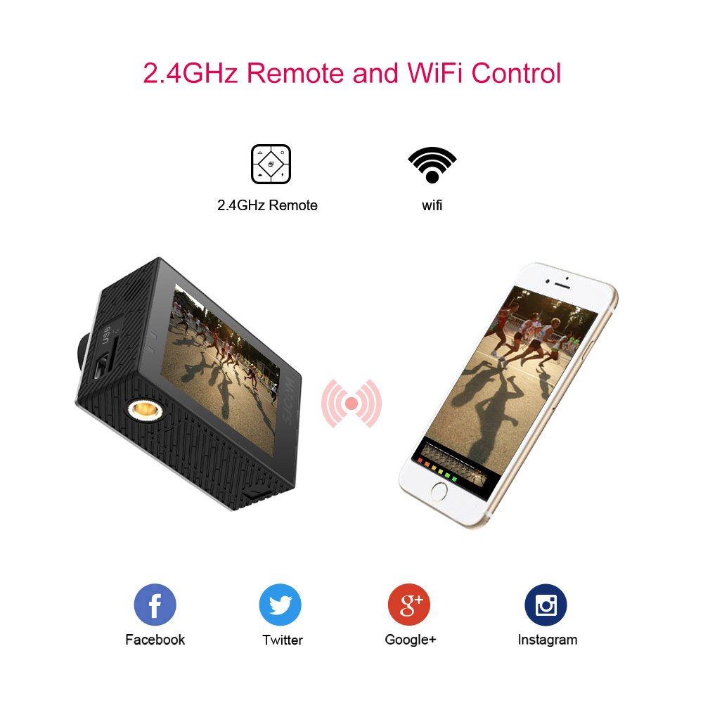 SJCAM SJ6 Legend 4K Action Camera 16MP/Dual Screen/2 0 Touchscreen/Gyro  Stabilization/External Microphone,Remote Control Supported/Wifi Underwater