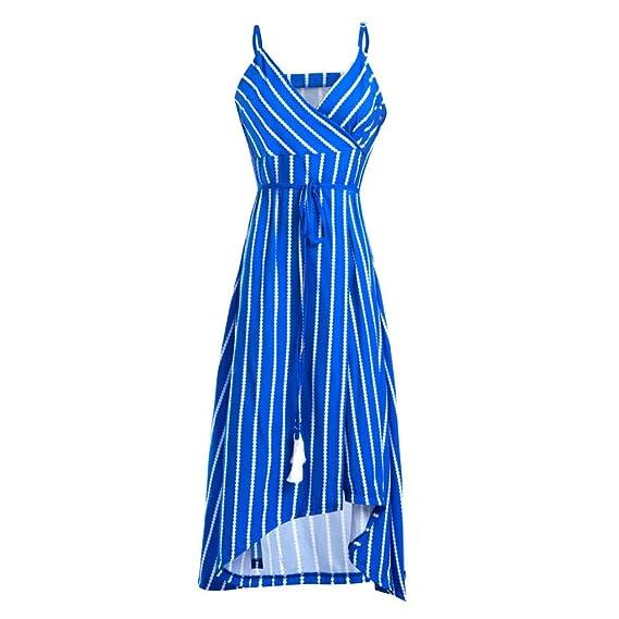 Wawer Vestido de Playa de Verano para Mujer, Vestido de Noche, Estilo Bohemio, sin Mangas, Vestido sin Mangas, Vestido para Fiesta, Cóctel, Boda, Playa.