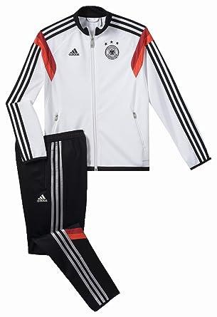 adidas Chándal DFB Fanshop Alemania - Blanco / Negro, 176: Amazon ...