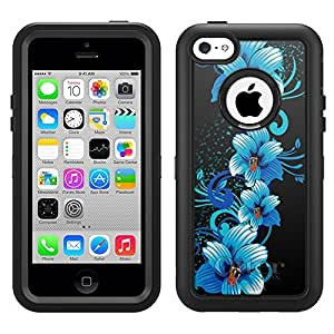 Otterbox Apple iPhone 6 4.7 Defender Case Blue Flowers on Black
