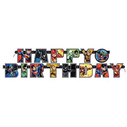 8f79aa6df Amazon.com  6.5ft Justice League Birthday Banner  Toys   Games