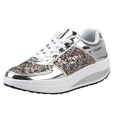designer fashion 36b5a 52b90 ELECTRI Femme Chaussures Platform Trainers Tennis à Enfiler Pas Cher Baskets  à Talons Plates Soldes Été