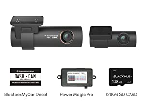 Pittasoft Blackvue DR900S-2CH with Power Magic Pro Hardwire Kit 2-Channel | 4K Dashcam | 128GB SD Card