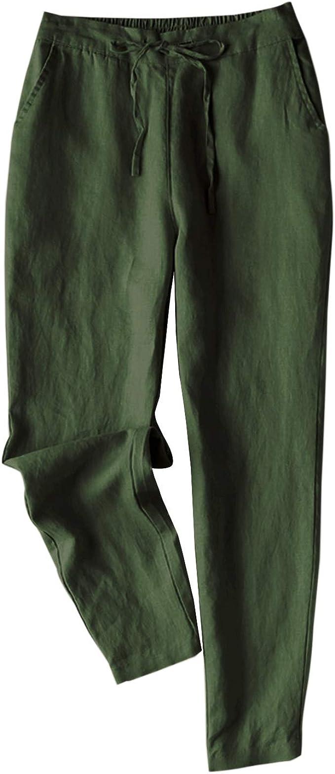 Womens Smart Plain Front Back Elastic Waist bi Stretch 2 Pocket Trouser Brown