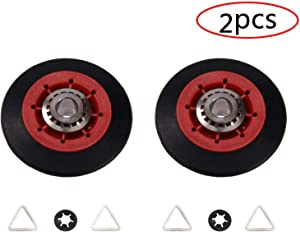 8536974 Dryer Drum Roller Repair Kit Assembly, Replaces Part # 8536973 W10314171 WPW10314173 PS11752609, Update Replacement Part Fit for Whirlpool, Magic Chef, Kitchen Aid, Roper, Kenmore (Pack of 2)