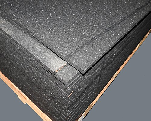 American Made Thick Rubber Gym Flooring 3/4'' Thick 48'' x 72'' weighs 90 lbs. by TDS