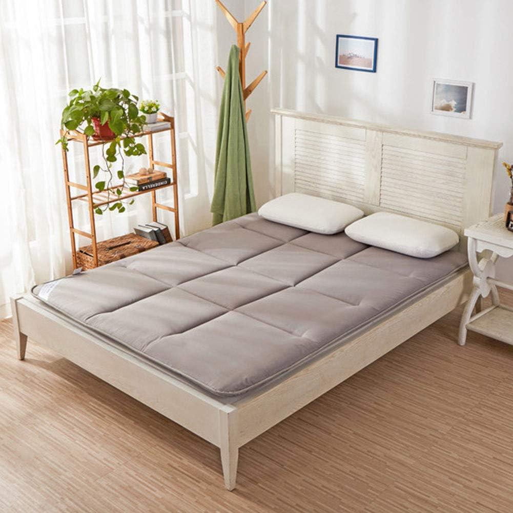 Tradicional Japon/és Fut/ón Colch/ón,Dormir Tatami Floor Mat Funda Protectora De Colch/ón Doble Soltero Colch/ón Tatami Gris 90x195cm 35x77inch
