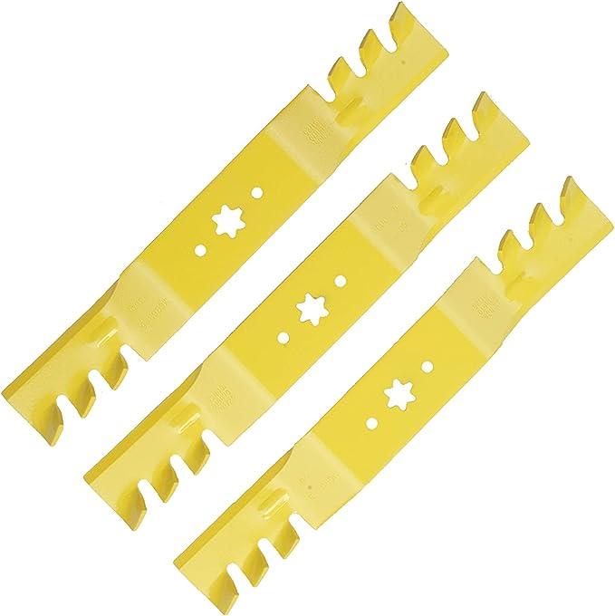 ToPicks Lot de 50 lames de coupe en plastique pour tondeuse /à gazon 83 mm 50 pcs Orange