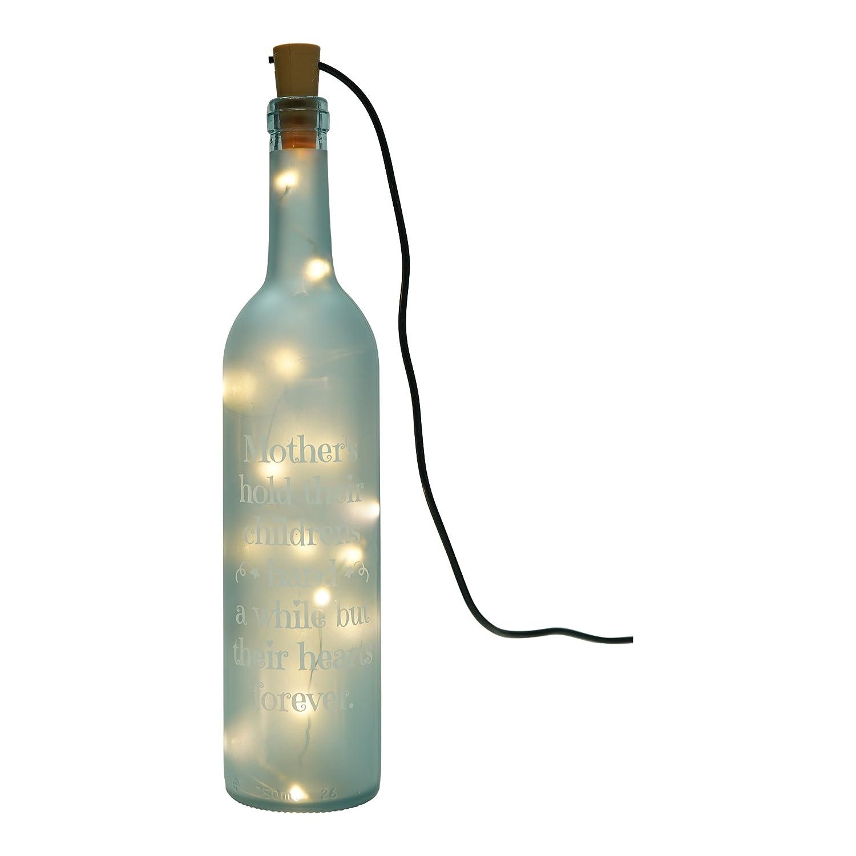 The Twiddlers Lámpara Tipo Botella Luminosa - Iluminación con Luces LED - Accesorio Decorativo con Mensaje Grabado para mamá - Regalo Ideal para Navidad: ...