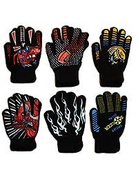 Gilbin Magic-Stretch Gripper Glove, Kids Size, Sports Set, 6 Pair (SIZE 4-6)